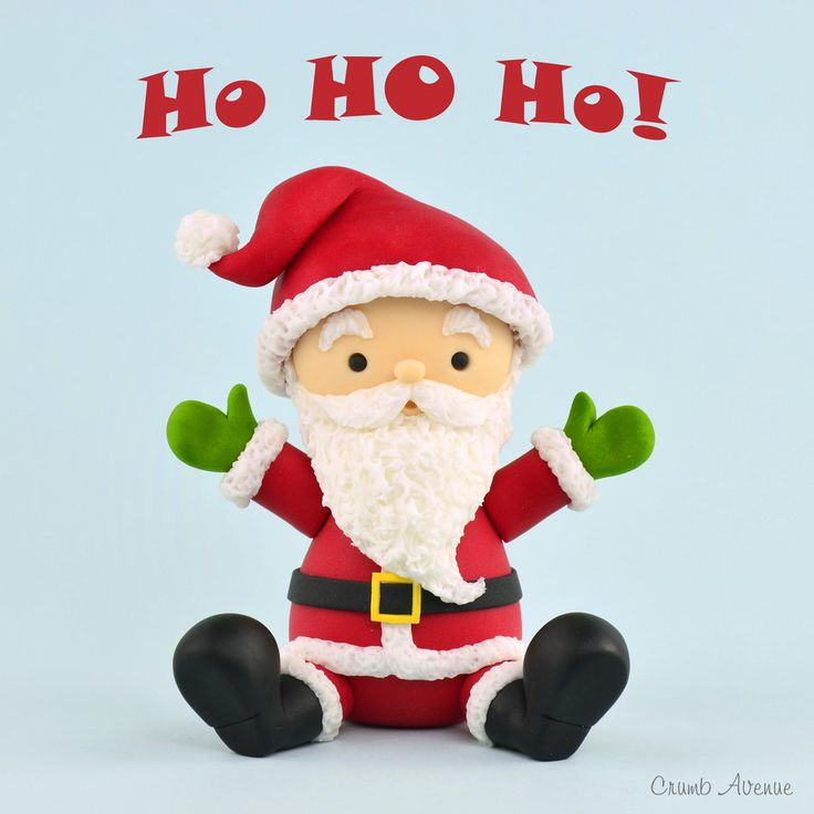 Santa Claus Fondant Cake Topper Tutorial