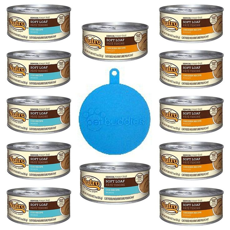 Nutro Grain Free Canned Senior Soft Loaf Cat Food 2 Flavor Variety Bundle (12 Cans Total, 3 Oz Each) Plus 1 Pet Buddies Silicone Cat/Dog Food Can Cover -- 13 Items Total *** Find out more about the great product at the image link. (This is an affiliate li