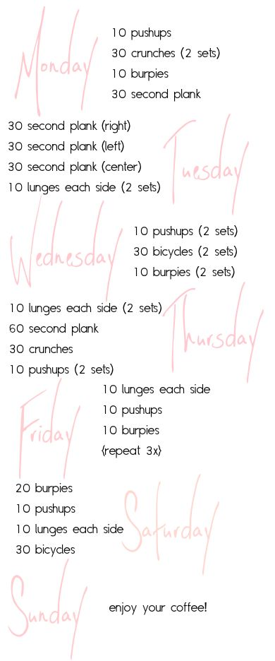 a little workout list with music from pushupswithpolish.com