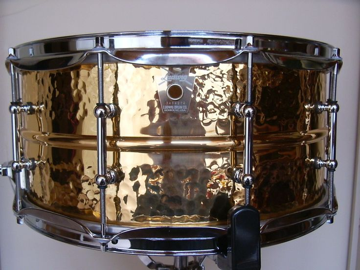 """LUDWIG HAND HAMMERED BRONZE (6.5/14"""") SNARE - my go to metal snare, recommended personally to me by Mr. Bun E. Carlos at the Chicago Drum show."""