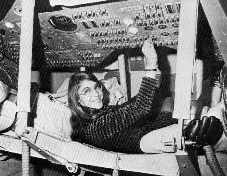 Margaret Hamilton, the Lead Apollo Flight Software Designer, In a Mockup of the Apollo Command Module (MIT Photo)