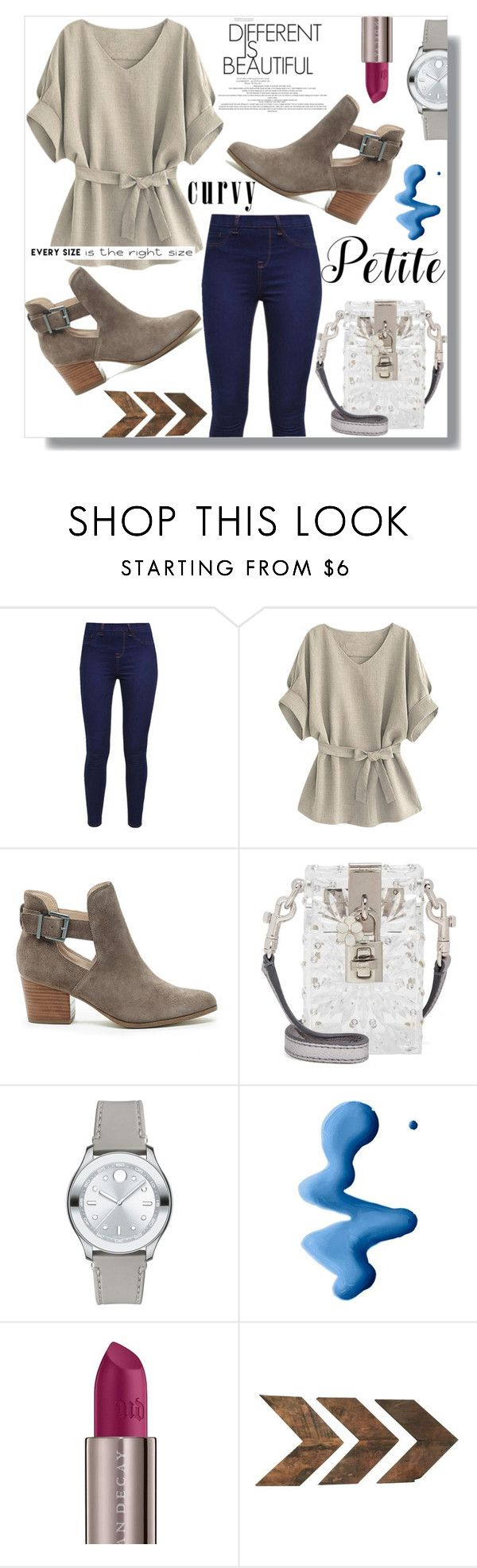 """#PowerLook"" by letiperez-reall ❤ liked on Polyvore featuring Sole Society, Dolce&Gabbana, Movado, Topshop, Urban Decay, WALL, Petite, curvy, polyvorecontest and polyvorefashion"