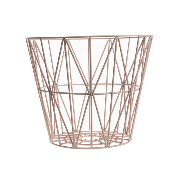 Wire Basket in Rose by Ferm Living