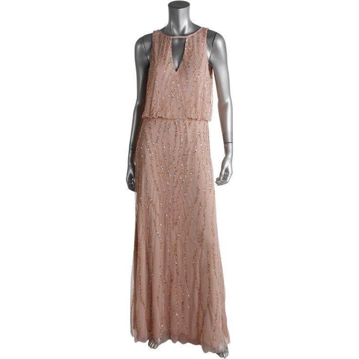 Aidan Mattox Womens Semi-Formal Dress Mesh Prom