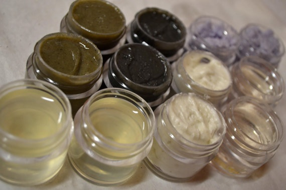 This is just awesome- Skin care SAMPLER set VEGAN natural ingredients by CakeFaceSoaping, $4.00