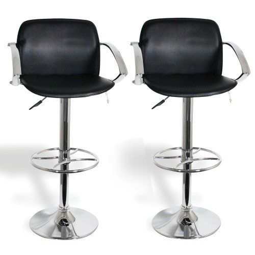 2 30 Black Padded Bar Stools With Backs By Findingking 2 30 Black Padded Bar Stools