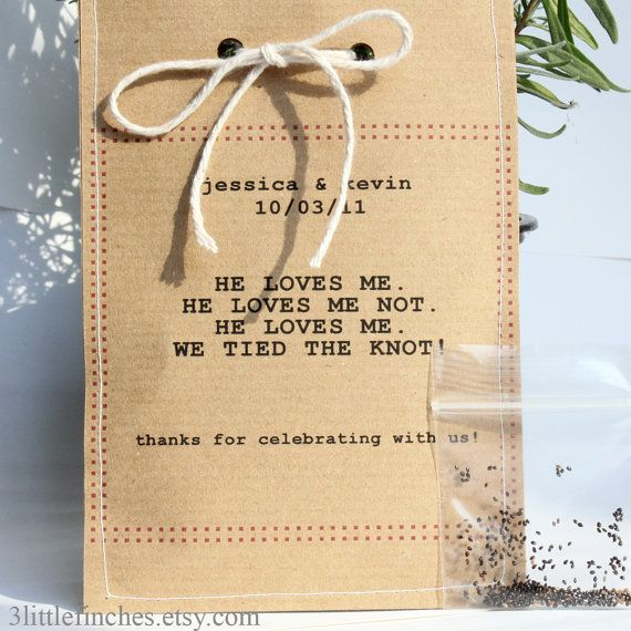 Forget Me Not Flower Seed Wedding Favours