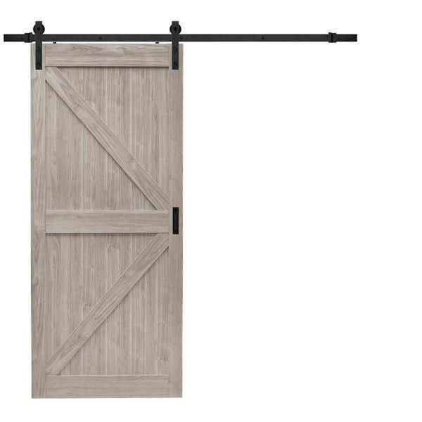 Gray Soft Close Barn Door Design K Style With Sliding Door Kit Barn Door Designs Wood Barn Door Barn Doors Sliding