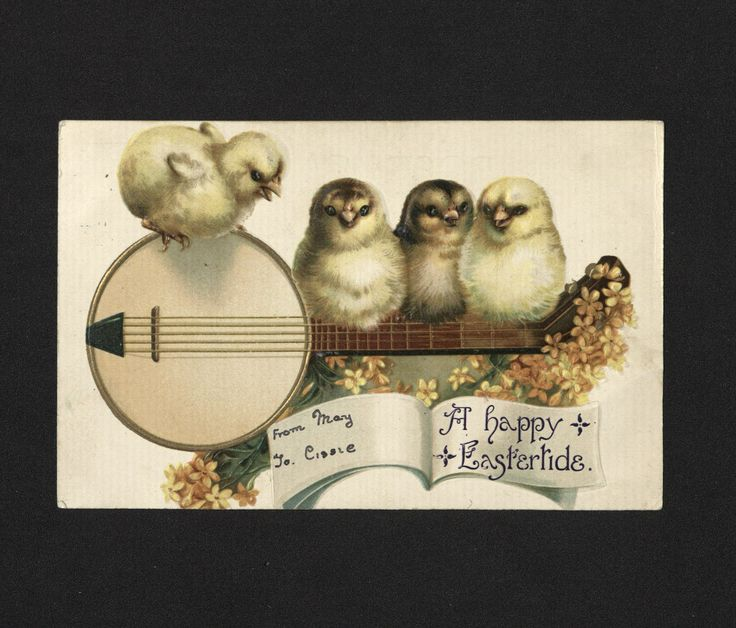 'A happy/ Eastertide' Easter Postcard. 19th century.