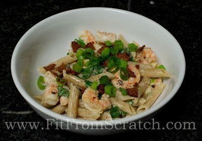 "Spicy Shrimp ""Alfredo....lighter/lactose free version :)"