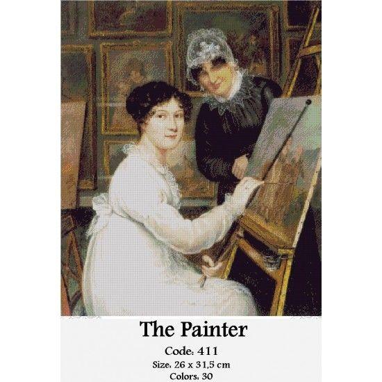 Cross Stitch Kit The Painter http://gobelins-tapestry.com/portraits/858-the-painter.html