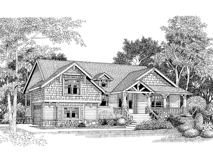 Split level house plan with 2150 square feet and 3 for Split level home designs melbourne