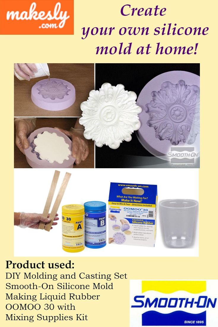 Diy Molding And Casting Set Smooth On Silicone Mold Making Liquid Rubber Oomoo 30 With Mixing Supplies Kit Liquid Rubber Silicone Molds Diy Molding