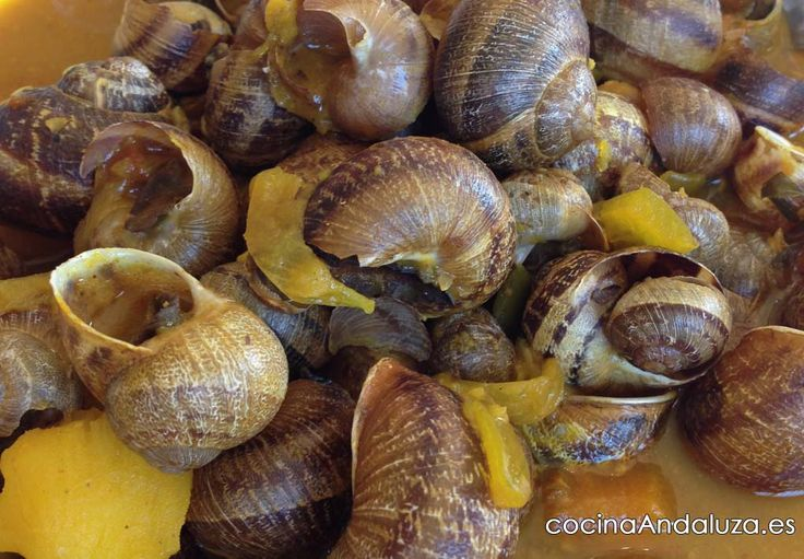 Paso a paso para preparar unos deliciosos caracoles con salsa de almendras, un plato muy típico en Andalucía.