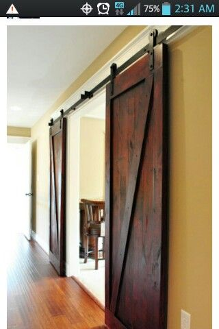Barn doors for bathroom, laundry room, den or garage doors