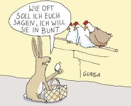 ostern bilder lustig | Ostern cartoon, Ostern zitate und ...