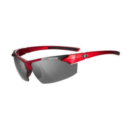 Jet Fc, Metallic Red Single Lens Sunglasses Smoke Lenses, Beige
