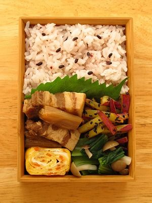 Japanese single male office worker's bento lunch made by himself|弁当