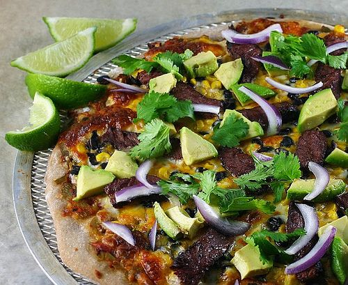 Mexican Steak Pizza