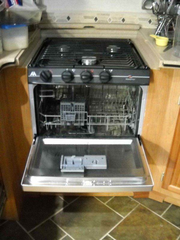 RV Mods: Stove-Oven to Dishwasher Conversion - Re-Purpose Unused Oven..........OH!!  YES!!