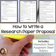 Sample Apa Essay Paper Research Paper Proposal Assignment Sheet And Grading Rubric Mla Format Good Thesis Statements For Essays also Persuasive Essay Topics High School Best  Research Proposal Format Ideas On Pinterest  Proposal  What Is Thesis In An Essay