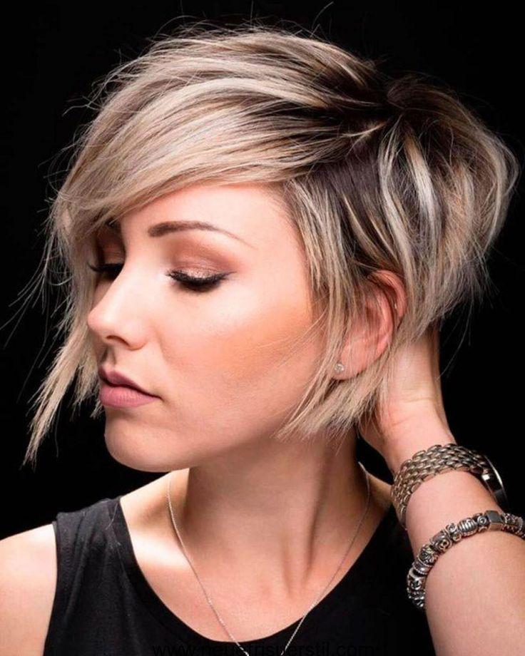 Frisuren einseitig kurz