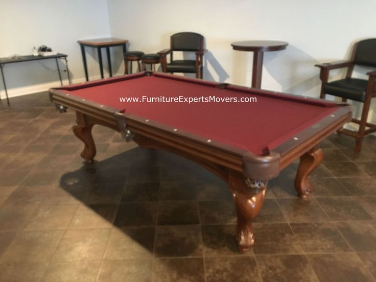 Brunswick Pool table disassembly, relocation and