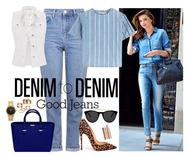 DENIM to DENIM by nove-windy on Polyvore featuring T By Alexander Wang, maurices, Topshop, Christian Louboutin, Nixon, Apt. 9, Smoke & Mirrors, Charlotte Tilbury, Kerr® and denim