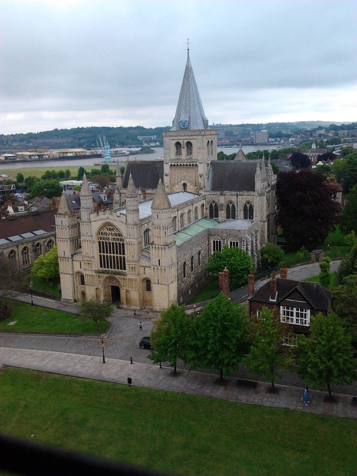 Rochester Cathedral, taken from Rochester Castle