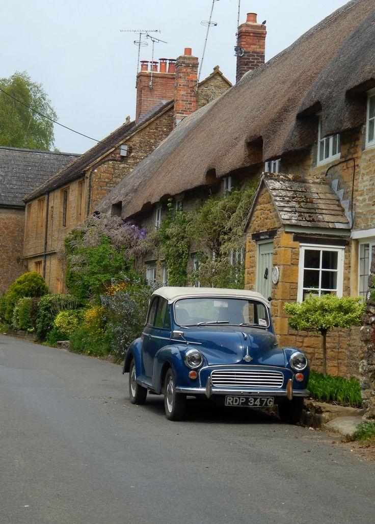 Morris Minor. East Coker, Somerset, England, UK