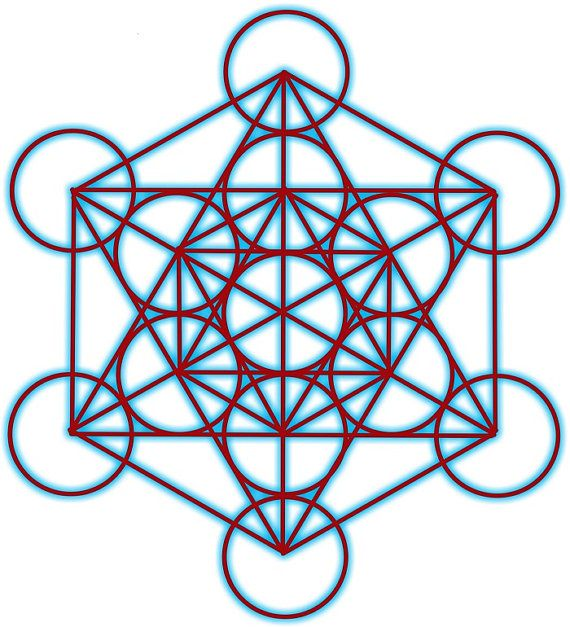 Archangel Metatron Sacred Geometry 8.5x8.5 by AngelsMadeSimple