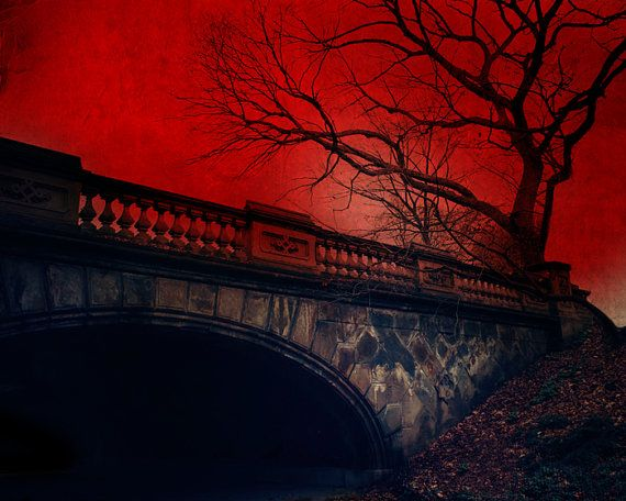 Vampire's Rest by TheLonelyPixel on Etsy, $25.00: Vampires Rest, Pixel Photography, Crimson Red, Art Prints, Central Parks, Parks Nyc, 8X10 Prints, Landscape Photography, Lonely Pixel