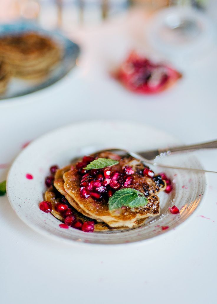 Pancakes made from left over porridge