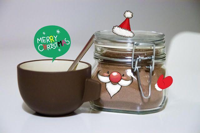 Preparato fatto in casa per cioccolata calda. Regala una coccola in barattolo per Natale :)