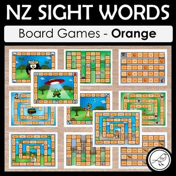 NZ sight words - Orange - BOARD GAMES A set of 11 colourful and engaging board games for your students to practise their sight words at the Orange level. Sight words are read when the player lands in that square. Some games have an endpoint (where players reach the 'finish') and some games are ongoing until the allocated time is up, or
