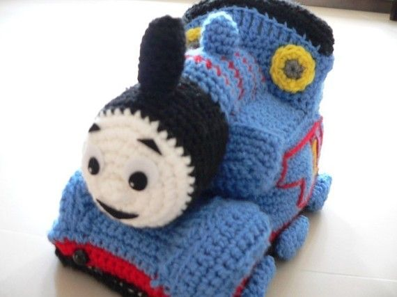 For James, except it needs a gray face, not a white one. Thomas the Train Crochet pattern - $6.50