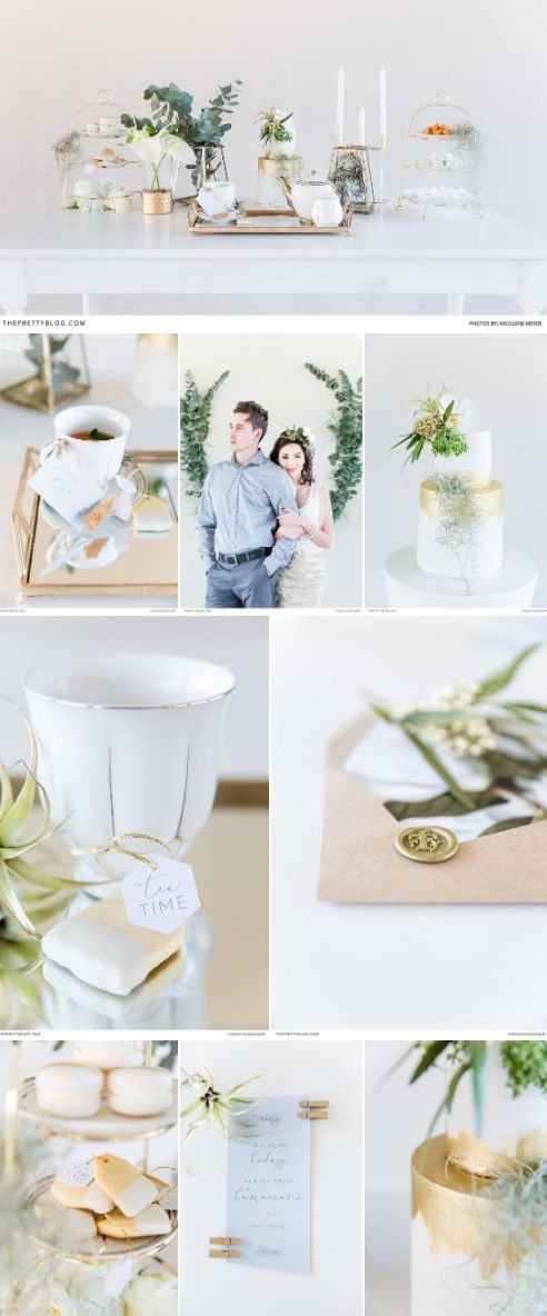 The ultimate tea party inspiration - the beautiful gold touches and a minimalistic, natural feel   Photography by Nicolene Meyer