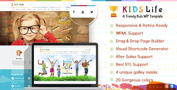 Kids Life | Children WordPress Theme - Children Retail