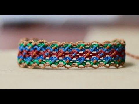 tutorial pulseras de hilo faciles | friendship bracelet tutorial - YouTube