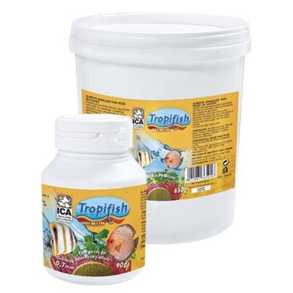 Tropifish Gránulo Normal Tropifishes un alimento Premiumde gran calidad,palatabilidady valor nutritivo para los peces que contieneomega 3y esrico en proteínas y ácidos. Alimento de 0,7mm de diámetro para peces entre 1 y 5 centímetros.