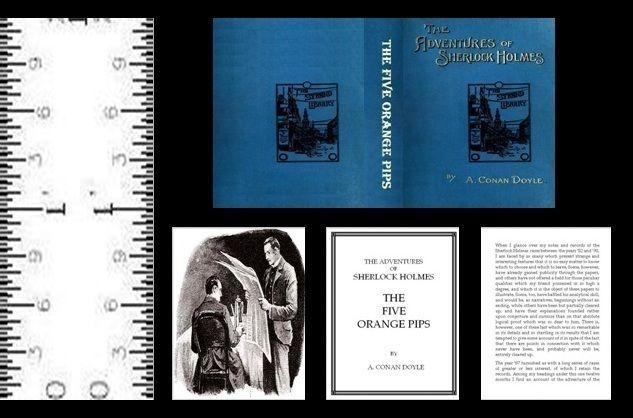 1:12 SCALE MINIATURE BOOK THE FIVE ORANGE PIPS ILLUSTRATED SHERLOCK HOLMES #LeeAnnBorgiaMiniatureBooks