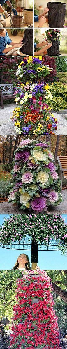 Дизайн сада своими руками: цветочная башня - Учимся Делать Все Сами