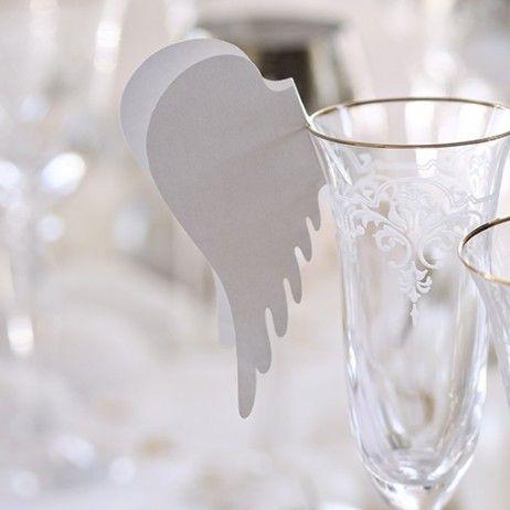 Marque place mariage Aile d'ange pas cher - Badaboum