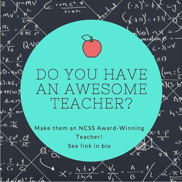 Nominate your teacher today!! http://www.socialstudies.org/awards/research