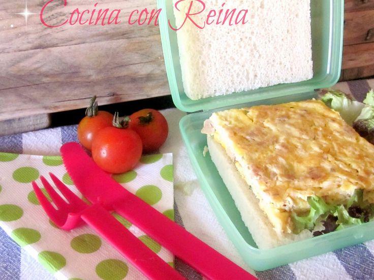 Tortilla de atun del blog Cocina con Reina