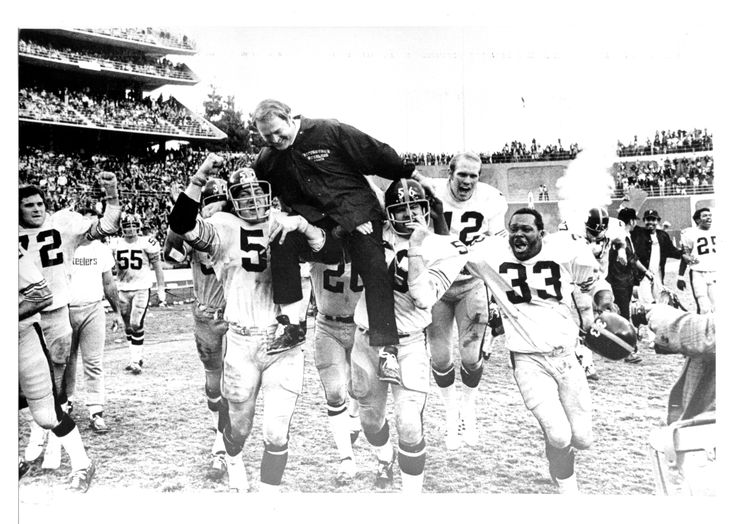 1972 First Division Championship with Coach Noll on the shoulders of his team.