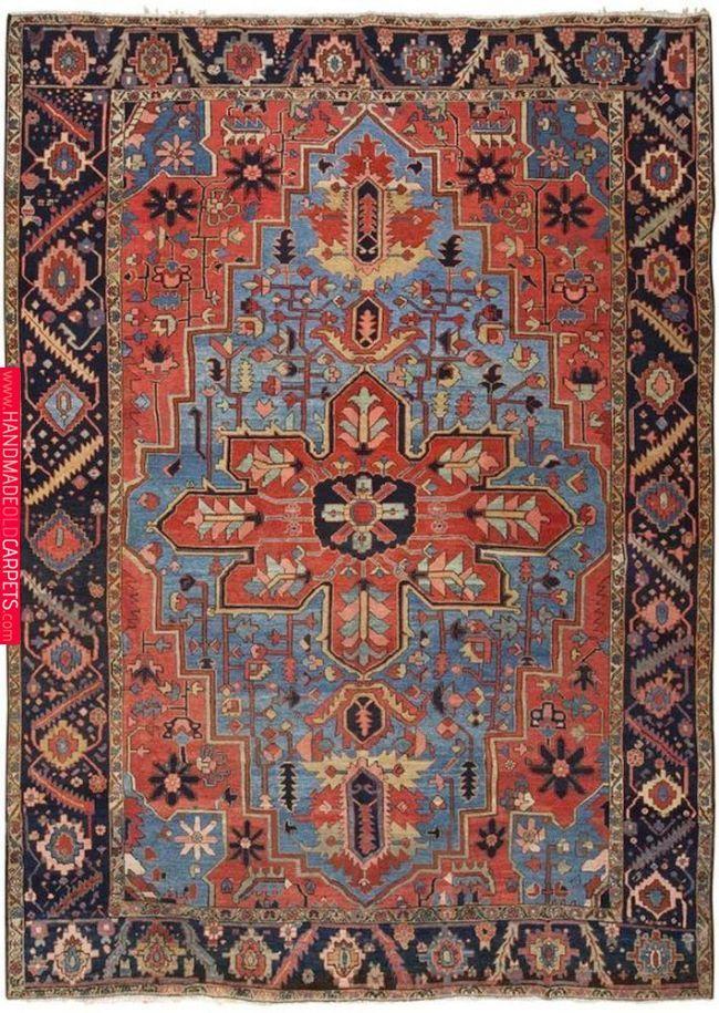 Heriz Serapi Vintage Oriental Rugs Persian Rugs For Sale Antique Persian Rug