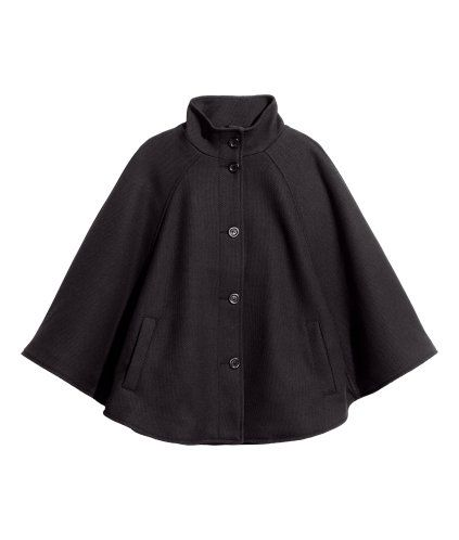 Cape in Textured Woven Fabric