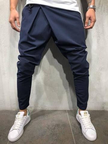 d76ae0f2506ced Asymmetrical Ankle Pants - Navy - Pants - mens streetwear