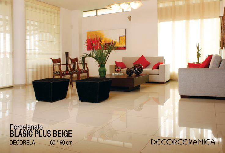 #ideasdecor te recomienda | Crear juegos de color con los cojines Si en tu sala predomina el blanco y te gustaría generar contrastes delicados, los acentos de color pueden correr por cuenta de los cojines y un cuadro. Como lo ves, el naranja es un color que le irá muy bien a tu ambiente. Conoce más sobre el porcelanato Basic Plus Beige en nuestro sitio web http://bit.ly/1TKh47m #Decorceramica
